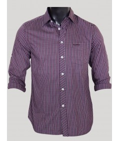 Slim Fit - Plum Long Sleeve Shirt Boer and Fitch - 1
