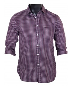 Slim Fit - Plum Long Sleeve Shirt Boer and Fitch - 2