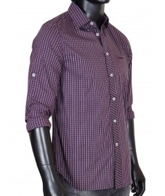 Slim Fit - Plum Long Sleeve Shirt Boer and Fitch - 3