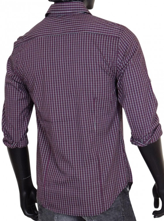 Slim Fit - Plum Long Sleeve Shirt Boer and Fitch - 4