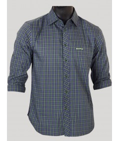 Slim fit - Green Full Sleeve Shirt Boer and Fitch - 1