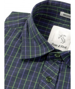 Slim fit - Green Full Sleeve Shirt Boer and Fitch - 3