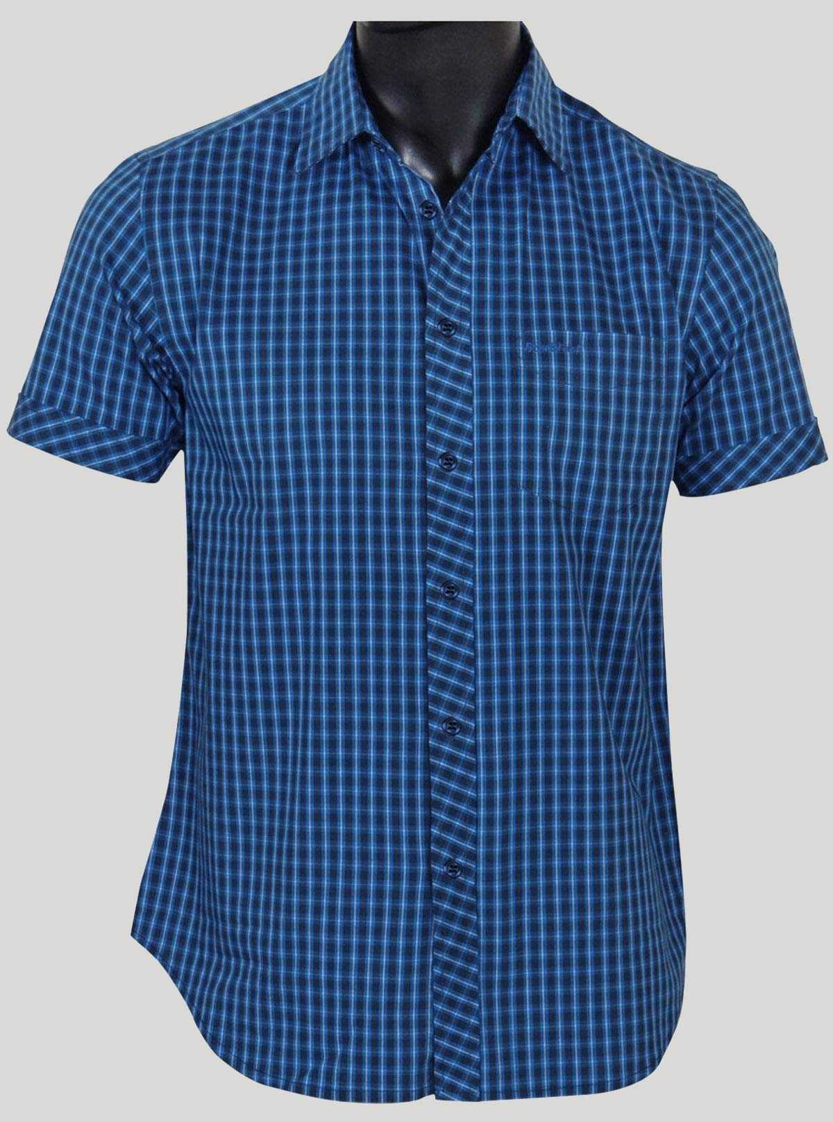 Slim Fit - Ink Blue Casual Shirt Boer and Fitch - 1