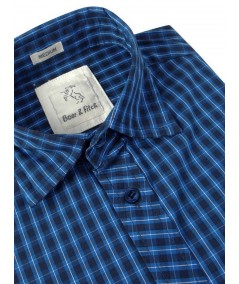 Slim Fit - Ink Blue Casual Shirt Boer and Fitch - 4