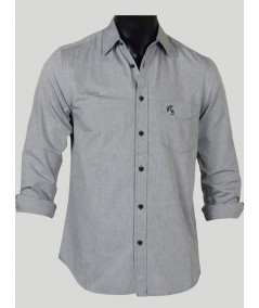 Slim Fit - Solid Grey Shirt Boer and Fitch - 1