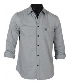 Slim Fit - Solid Grey Shirt Boer and Fitch - 2