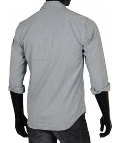 Slim Fit - Solid Grey Shirt Boer and Fitch - 3