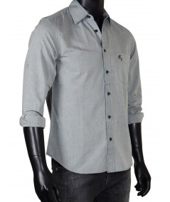 Slim Fit - Solid Grey Shirt Boer and Fitch - 4