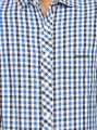 Ink Blue Chereckered Shirt Boer and Fitch - 6