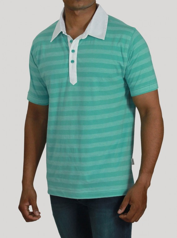Self Stripped Polo TShirt Boer and Fitch - 1