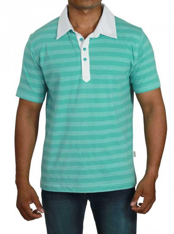 Self Stripped Polo TShirt Boer and Fitch - 4
