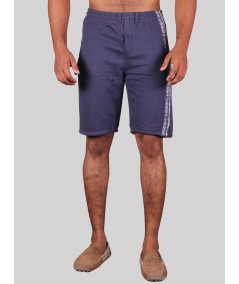 Navy Printed Fleece Shorts Boer and Fitch - 1