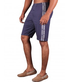 Navy Printed Fleece Shorts Boer and Fitch - 2