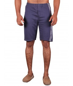 Navy Printed Fleece Shorts Boer and Fitch - 3