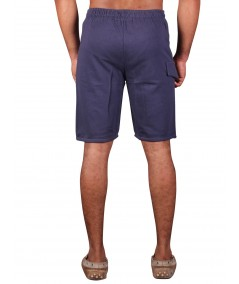 Navy Printed Fleece Shorts Boer and Fitch - 4