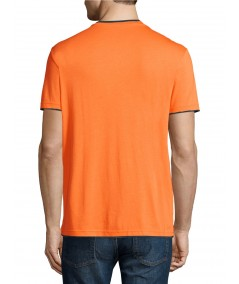 Orange V Neck Contrast Tshirt Boer and Fitch - 3