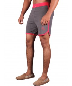 Red Contrast Fleece Shorts Boer and Fitch - 3