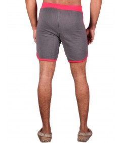 Red Contrast Fleece Shorts Boer and Fitch - 4