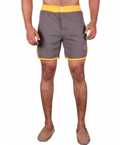 Yellow Contrast Fleece Shorts Boer and Fitch - 2
