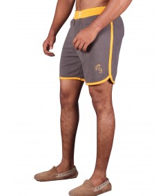 Yellow Contrast Fleece Shorts Boer and Fitch - 3