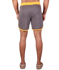 Yellow Contrast Fleece Shorts Boer and Fitch - 4