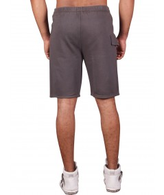 Grey Printed Fleece Shorts Boer and Fitch - 3