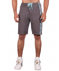 Grey Printed Fleece Shorts Boer and Fitch - 4