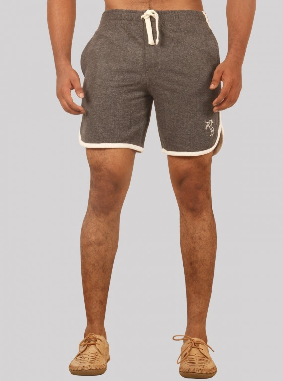 Charcol Melange Shorts with Piping Boer and Fitch - 1