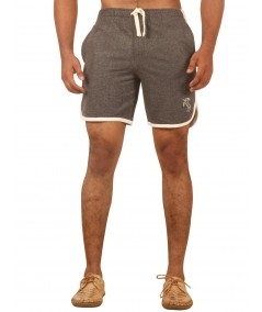 Charcol Melange Shorts with Piping Boer and Fitch - 2