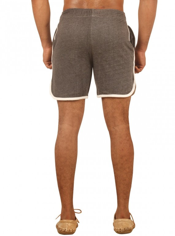 Charcol Melange Shorts with Piping Boer and Fitch - 3