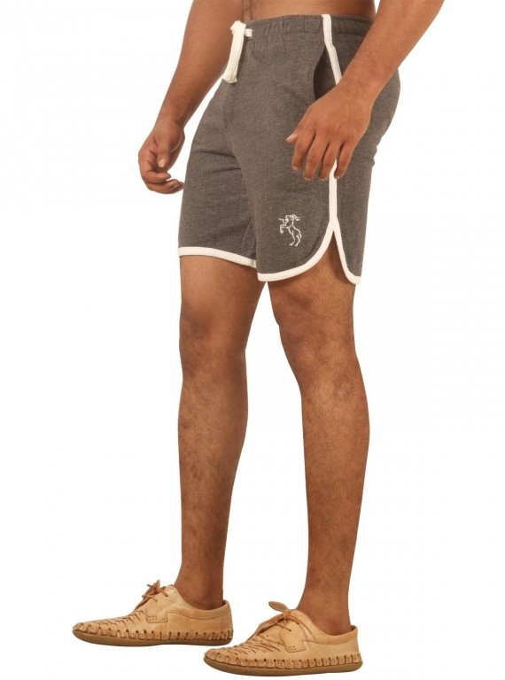 Charcol Melange Shorts with Piping Boer and Fitch - 4