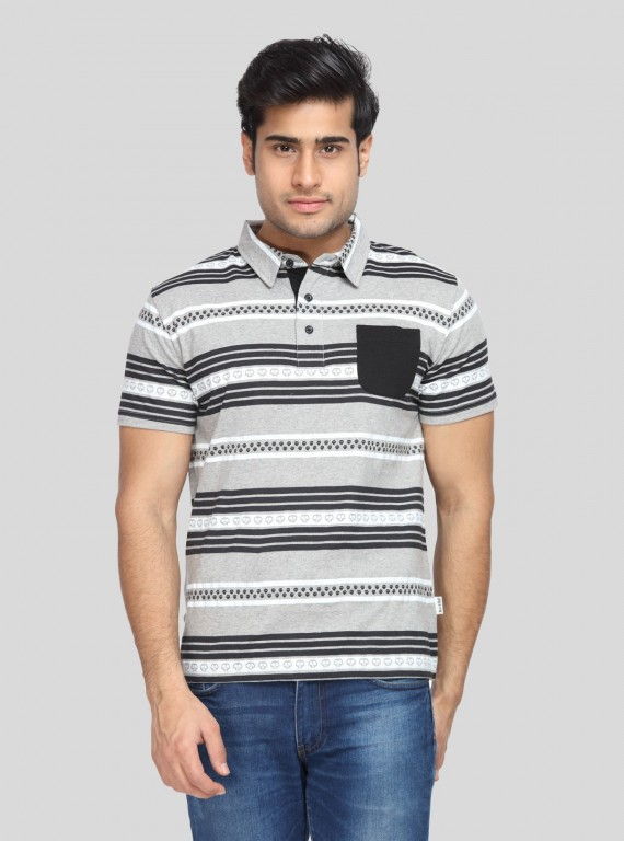 Devil Print Polo Tshirt Boer and Fitch - 1