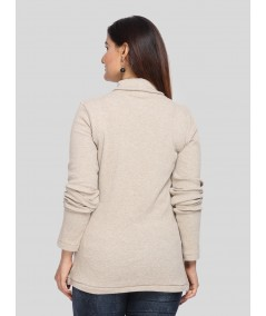 Beige Turtle Neck Top Boer and Fitch - 3