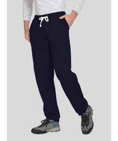 Navy Cuffed Fleece Jogger Boer and Fitch - 1