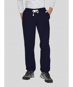 Navy Cuffed Fleece Jogger Boer and Fitch - 2