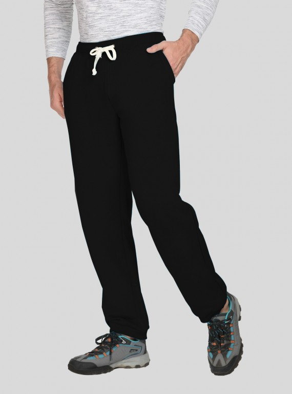 Black Cuffed Fleece Jogger Boer and Fitch - 1