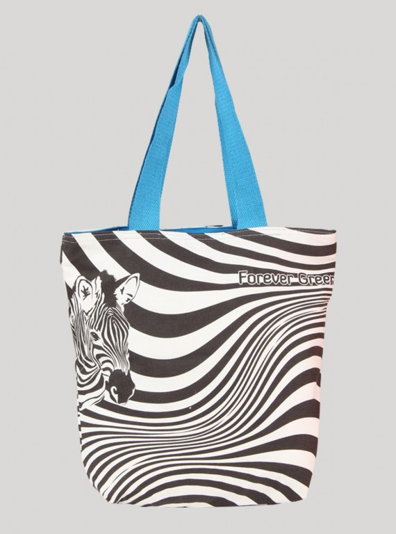 Zebra Graphic Print Bag Boer and Fitch - 1