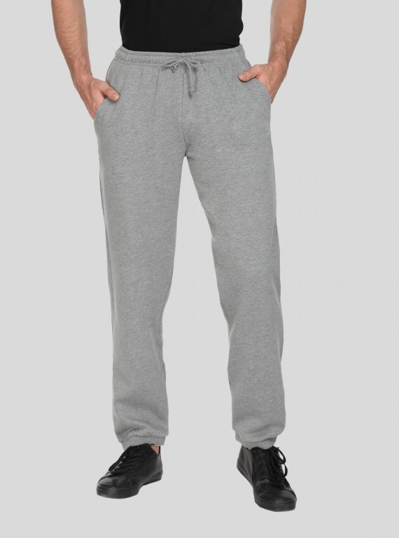 Grey Melange Cuffed Jogger Boer and Fitch - 1