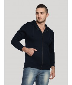 Navy Hooded Zipper Sweat Shirt Boer and Fitch - 4