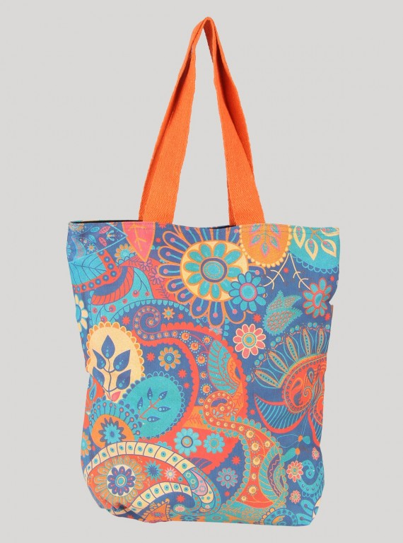 Orange Floral Sling Bag Boer and Fitch - 1