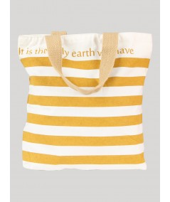 Brown Stripe Cotton Bag Boer and Fitch - 2
