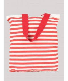 Red Stripe Cotton Bag Boer and Fitch - 2
