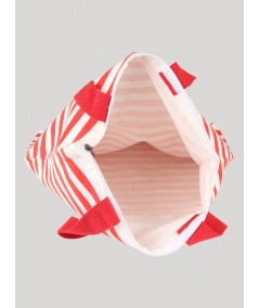 Red Stripe Cotton Bag Boer and Fitch - 4