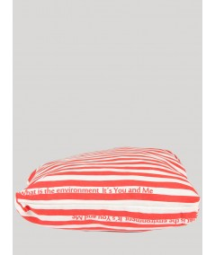 Red Stripe Cotton Bag Boer and Fitch - 5