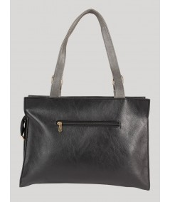Black and Grey Leather Bag Boer and Fitch - 2