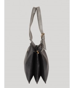 Black and Grey Leather Bag Boer and Fitch - 3