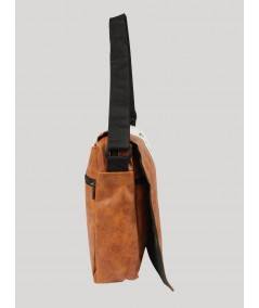 Brown Sling bag for Men Boer and Fitch - 3