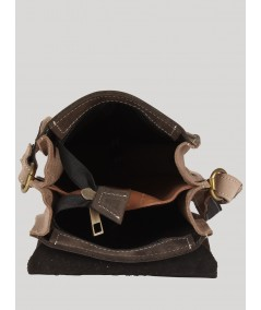 Dark Grey Leather Bag Boer and Fitch - 3