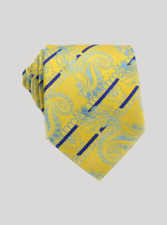Yellow contrast Neck tie