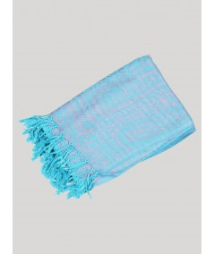 Sky Blue Silky Scarf Boer and Fitch - 3